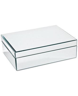 Mirrored large jewelry box macy 39 s for Macy s standing jewelry box
