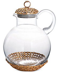 Michael Aram Lidded Palm Pitcher