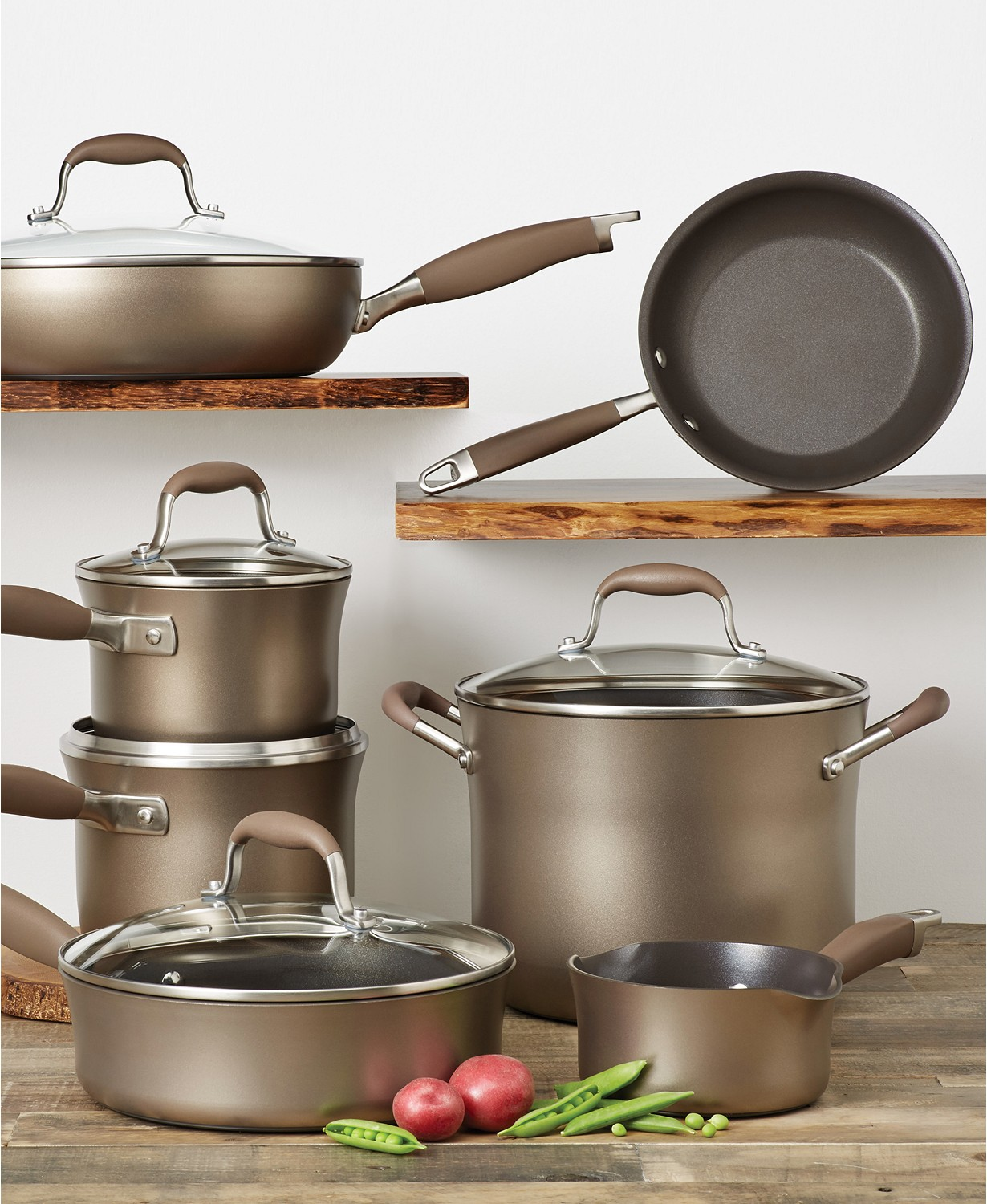 Save 28% on Anolon Advanced Bronze Hard-Anodized 12-Pc. Cookware Set