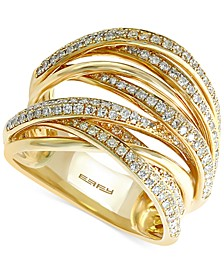 EFFY® Diamond Overlap Ring (3/4 ct. t.w.) in 14k Yellow Gold or Tri Color Gold
