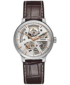 Women's Swiss Automatic Centrix Brown Leather Strap Watch 38mm R30179105