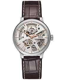 Rado Women's Swiss Automatic Centrix Brown Leather Strap Watch 38mm R30179105