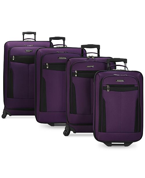 4 Pc Travel Select Segovia Spinner Luggage Set (Purple)