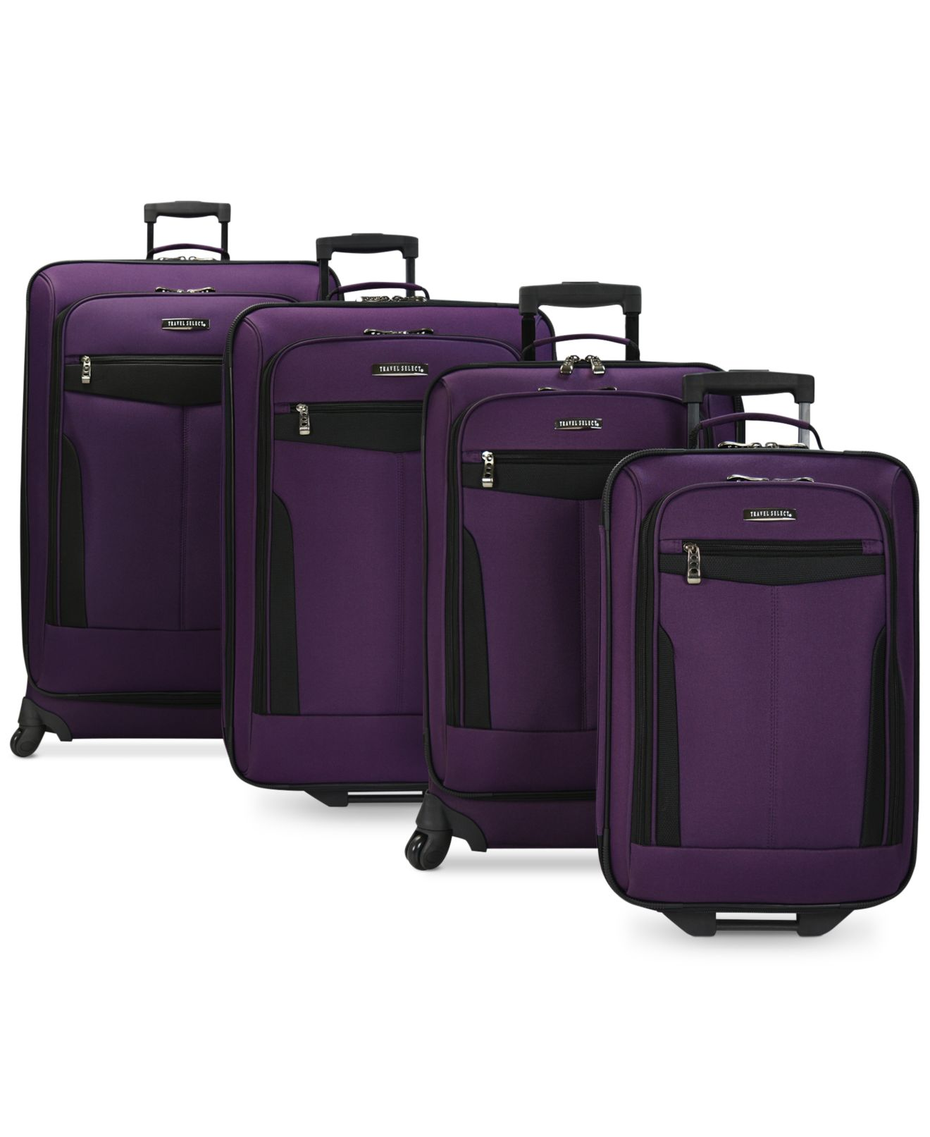 Travel Select Segovia 4 Piece Spinner Luggage Set, Only at Macy's ...
