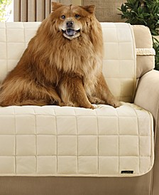 Velvet Deluxe Pet Armless Slipcover Collection with Sanitize Odor Release