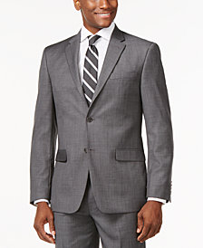 Tommy Hilfiger Solid Grey Modern-Fit Jacket