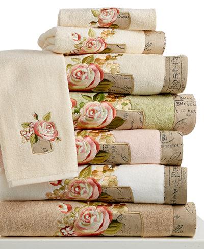 Avanti Antique Bouquet Bath Towel Collection