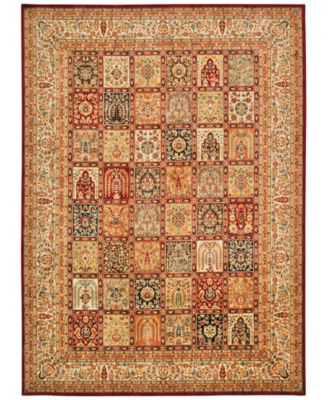"""Home Ancient Times Asian Dynasty Multicolor 3'9"""" x 5'9"""" Area Rug"""