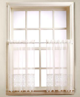 "Joy Lace 60"" x 24"" Pair of Tier Curtains"