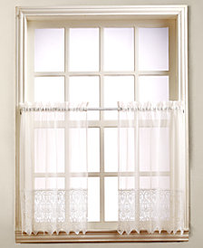 "Lichtenberg Joy Lace 60"" x 24"" Pair of Tier Curtains"