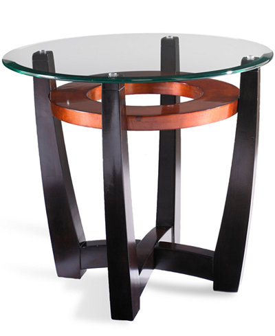 Elation Round End Table Furniture Macy 39 S
