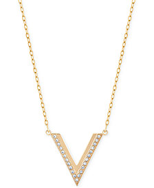 Swarovski Rose Gold-Tone Small Chevron Pendant Necklace