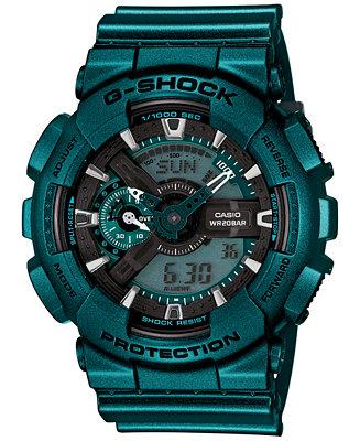 G-Shock Men's Analog-Digital Turquoise Bracelet Watch 55x51mm