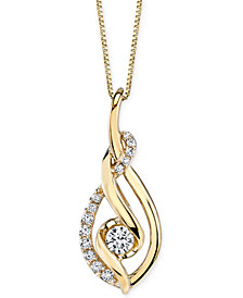 Sirena Diamond Spiral Pendant Necklace (1/3 ct. t.w.) in 14k Gold