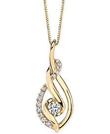 Sirena Diamond Spiral Pendant Necklace (1/3 ct. t.w.) in 14k Gold