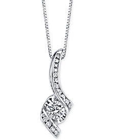 Sirena Diamond Pendant Necklace (3/8 ct. t.w.) in 14k White Gold