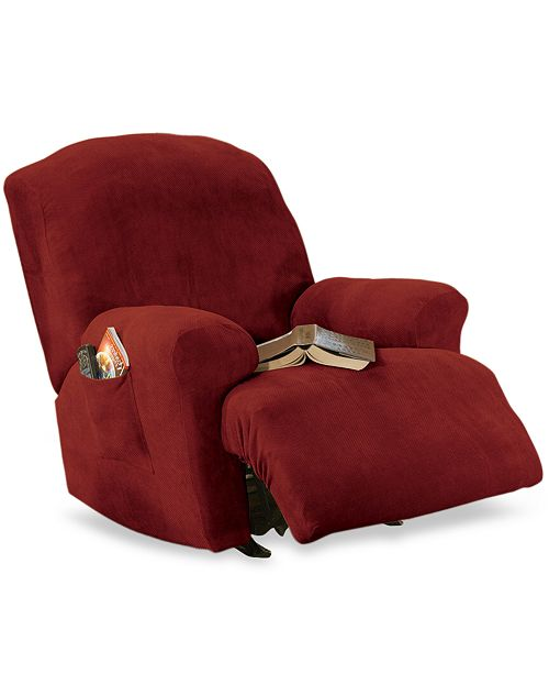 Sure Fit Stretch Pique Medium Recliner Slipcover