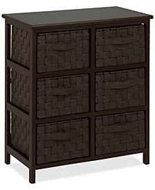 Woven Strap 6-Drawer Chest