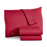 Lacoste Home Lacoste Solid Cotton Percale Twin Sheet Set (Multiple Colors)