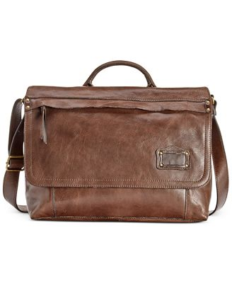 Nash Men's Milano Leather Messenger