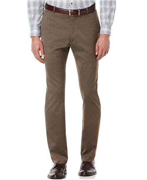 fdb0505a8c Perry Ellis Portfolio Slim Fit Flat Front No-Iron Dress Pants   Reviews ...