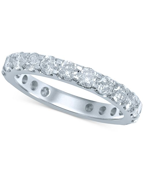 band p women diamond bands gold eternity pave ct white for