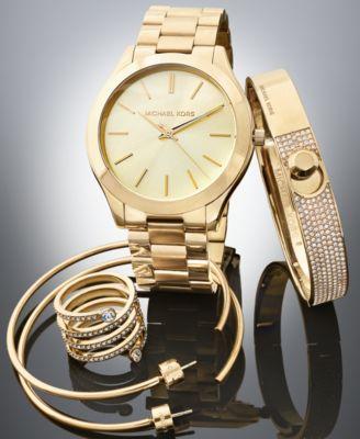 Michael Kors Golden Gift Set - Watches - Jewelry & Watches - Macy's