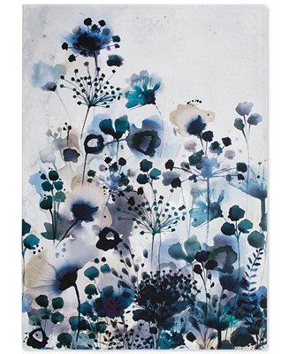 Graham Amp Brown Moody Blue Watercolor Wall Art Amp Reviews