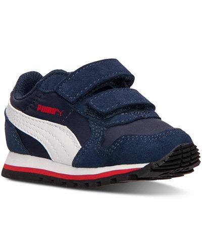 puma toddler boys' st runner nylon v casual sneakers from