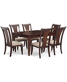CLOSEOUT! Metropolitan 7-Pc. Contemporary Dining Set, (Dining Table & 6 Side Chairs) Created for Macy's