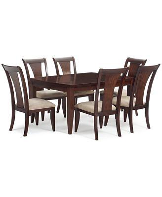 furniture closeout! metropolitan 7-pc. contemporary dining set