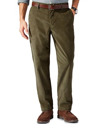 Dockers D2 Straight-Fit Field Khaki Corduroy Pants - Pants - Men ...
