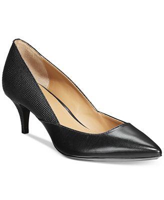 Womens Shoes Calvin Klein Patna Black Kid Skin