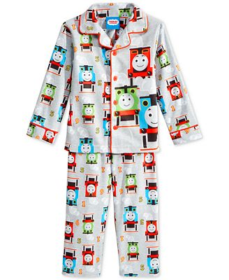 Thomas & Friends Toddler Boys' 2-Piece Button-Down Pajamas ...