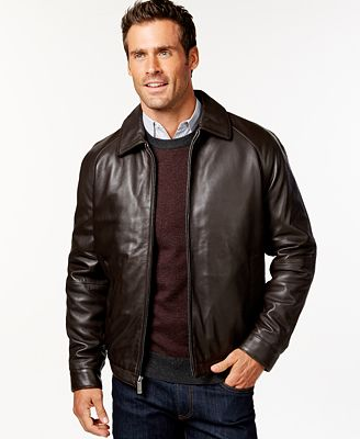 Nautica Big and Tall Classic Leather Jacket - Coats & Jackets ...