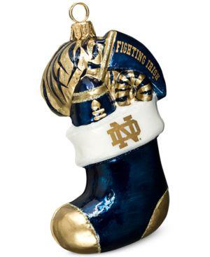 Joy to the World Notre Dame Fighting Irish Collegiate Stocking Ornament