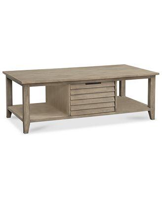 kips bay coffee table, created for macy's - furniture - macy's