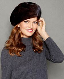 The Fur Vault Mink Fur Beret