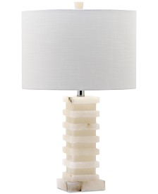 Decorator's Lighting Stacked Square Faux Alabaster Table Lamp