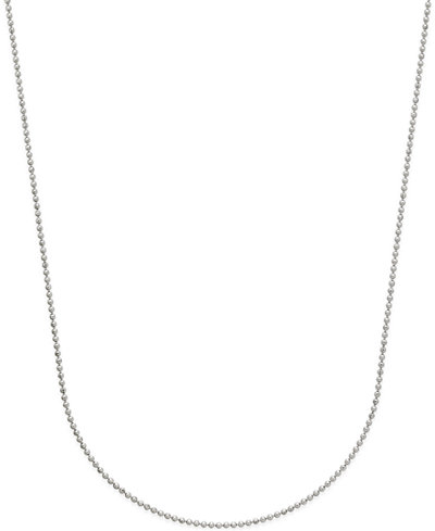 Beaded Link Chain Necklace in 14k White Gold