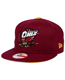 New Era Temple Owls Core 9FIFTY Snapback Cap