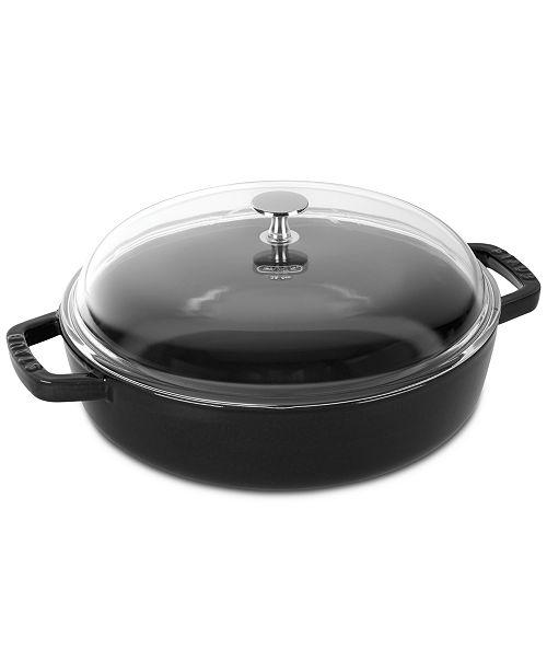 Staub Enameled Cast Iron 4 Qt Universal Pan Amp Reviews Cookware Kitchen Macy S
