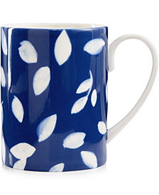 Martha Stewart Collection Stockholm Dinnerware Collection Porcelain Blue Mug, Created for Macy's