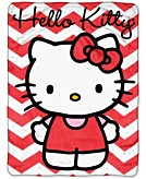 Hello Kitty Chevron Throw Bedding