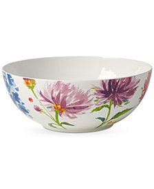 Villeroy & Boch Amnut Flowers Collection Bone China Vegetable Bowl