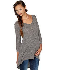 A Pea in the Pod Maternity High-Low Henley Top