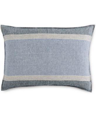 Linen Stripe Standard Sham, Created for Macy's