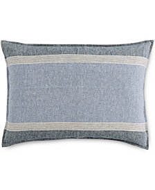 Hotel Collection Linen Stripe Standard Sham, Created for Macy's