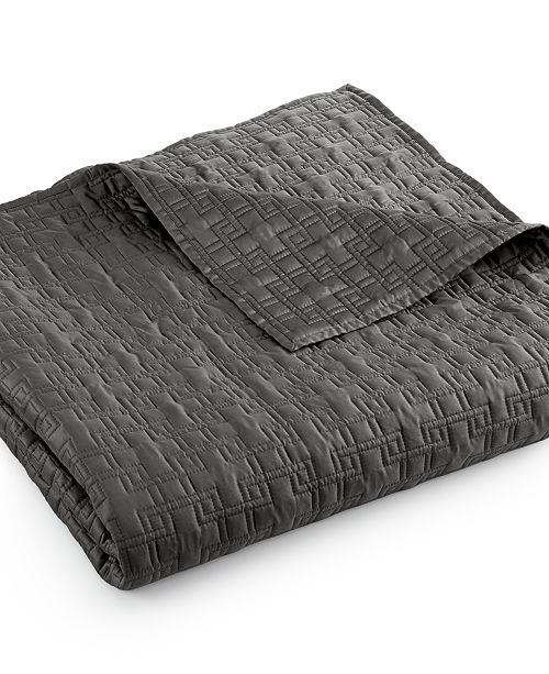 Hotel Collection Embroidered Frame Twin Coverlet, Created for Macy's