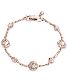 Silver-Tone Pavé Bracelet